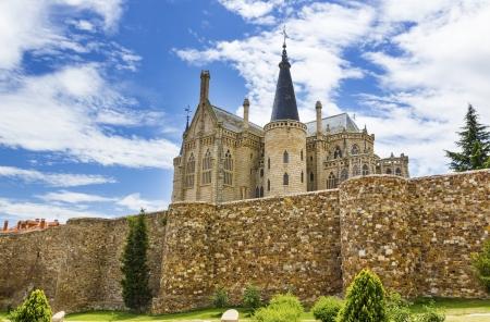episcopal: Astorga episcopal palace,Spain  Editorial