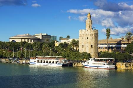 Golden Tower  Torre del Oro  near of Guadalquivir river,Sevilla