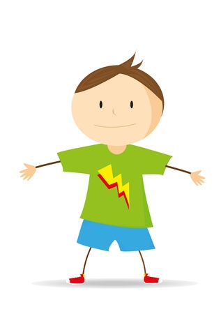 illustration of a a boy on a white background Stock Vector - 17007540