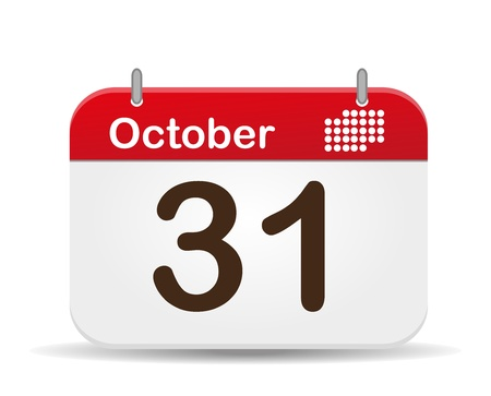 31: 31 October Calendar,Halloween Day
