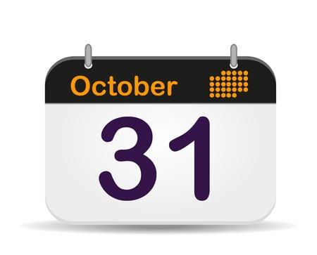 31 October Calendar,Halloween Day Stock Vector - 17111756