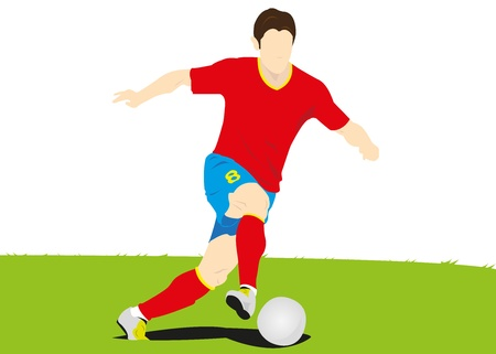 illustration of Soccer player,Football   Vector