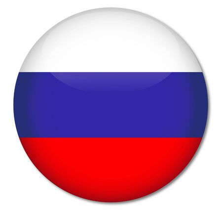 Russia Flag Glossy Button Stock Vector - 17212003
