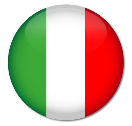 italien flagge: Italien-Flagge Glossy Button