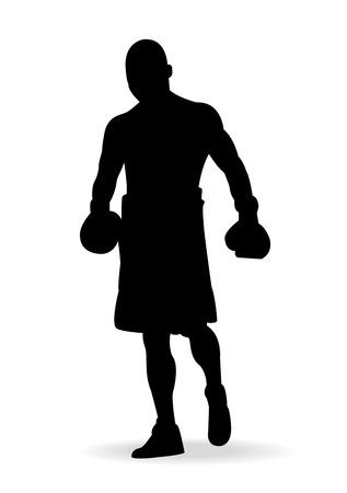 champ:  Boxing men,vector illustration  Illustration