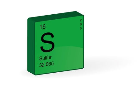 Sulfur Element,illustration  Stock Vector - 17359245
