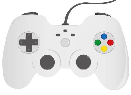 joypad: Gamepad isolated on white background, illustration