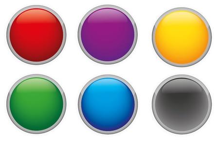 Vector Brillante botones de varios colores Vectores