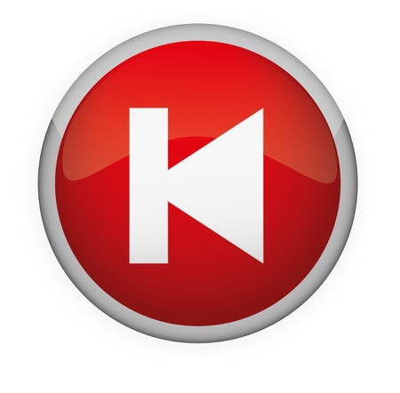 Glossy media button,Back   Vector Stock Vector - 17831013