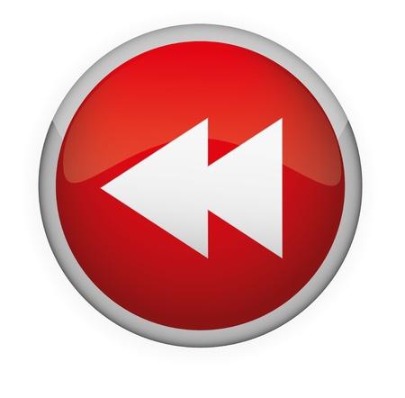 Glossy media button   Vector Stock Vector - 17831014