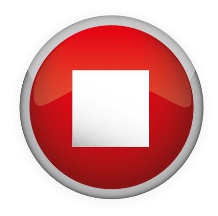 Glossy media button, Stop   Vector Stock Vector - 17831010