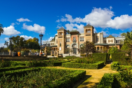 Gardens of Museum of Arts and Traditions of Sevilla, Spain Stock Photo
