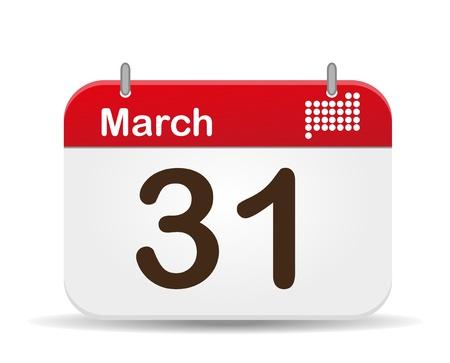 31 de marzo del calendario, el D�a Internacional de la tierra del planeta