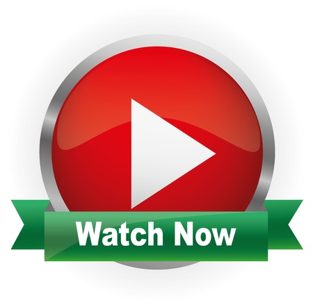Glossy Media Button,Play with Watch Now Vector illustration Vector Illustration