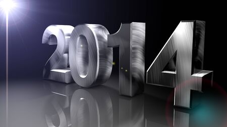 next year: New Year 2014,Render 3D