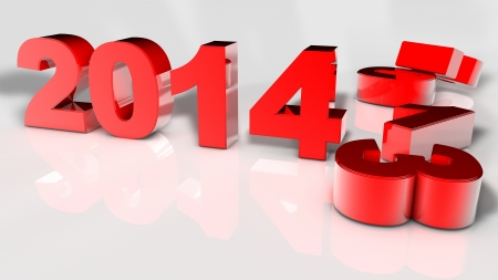 New Year 2014 and Old 2013,Render 3D  Stock Photo - 18860512