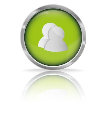 instant message: Glossy Chat Green Button,vector illustration  Illustration