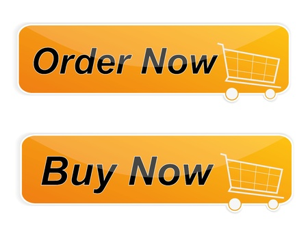 Conjunto de botones Shop Vectores