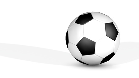 Render of Soccer Football Ball - Classic Type - Isolated  photo