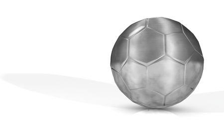 Render of Silver Soccer Ball - Classic Type - Isolated
