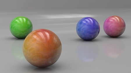 3d Render of Colorful Balls  photo