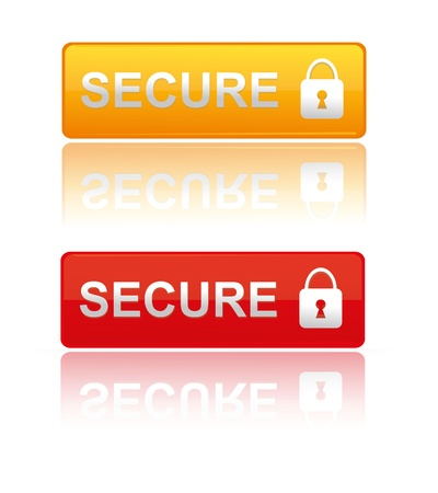 Web Button Secure Stock Vector - 19240722
