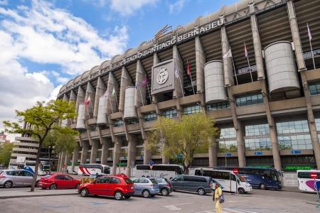 MADRID, ESPA�A-01 de mayo: Estadio Santiago Bernabeu del Real Madrid el 1 de mayo de 2013 en Madrid, Espa�a. Real Madrid CF se fund� en 1902.Stage de los grandes juegos de f�tbol.