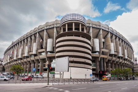 MADRID, SPAIN-MAY 1:Santiago Bernabeu Stadium of Real Madrid on May 1, 2013 in Madrid, Spain. Real Madrid C.F. was established in 1902.Stage of Great Football Games.