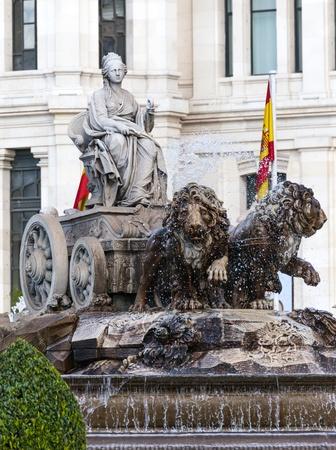 cibeles: Cibeles Fountain in Madrid,Spain