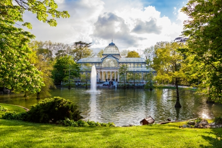 Crystal Palace in Retiro Park,Madrid, Spain