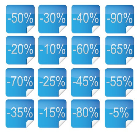 16 Discount Icons, Illustration  Vector