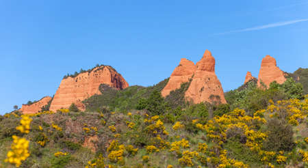 View of  Las Medulas  Ancient Roman Mines, Leon, Spain  photo
