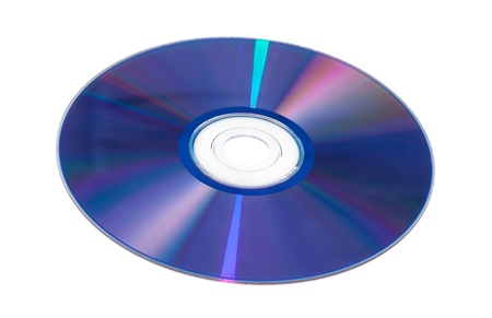 View of DVD-ROM for PC iSolated on White Background  photo