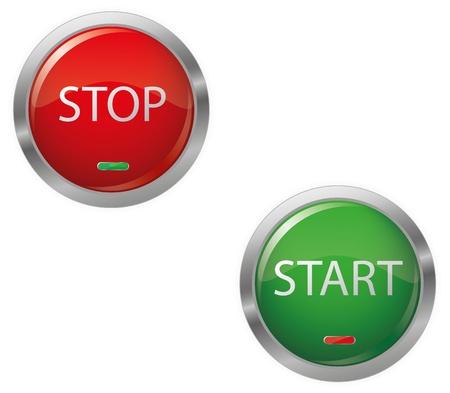 Engine Start Button Glossy Vectores