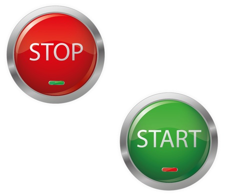 Engine Start Glossy Button