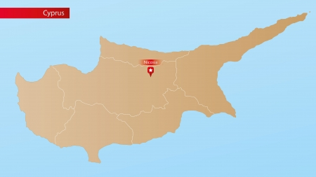 cyprus: Political Map of Cyprus