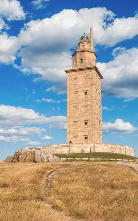 View of The Hercules Tower in La Coruña, Galicia, Spain  photo