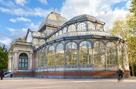 Palacio de Cristal en el Parque del Retiro, Madrid, Espa�a