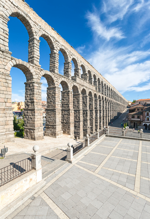 Aqueduct in Segovia, Castilla y Leon, Spain  Stock Photo