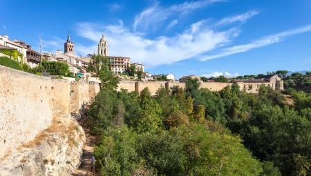 Segovia,Walled Town,Cathedral on Top,Castilla y Leon,Spain   Stock Photo