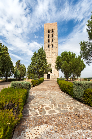 Mudejar Tower of San Nicolas Church Ruins,Coca-Segovia Province,Spain  Editorial