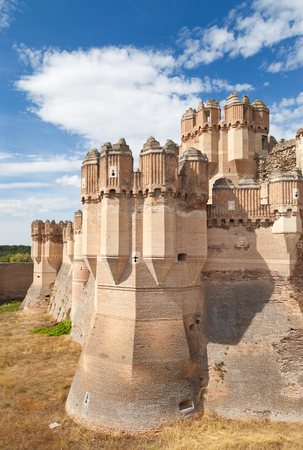 View of Coca Castle, Segovia  Castilla y Leon ,15th Century, Spain