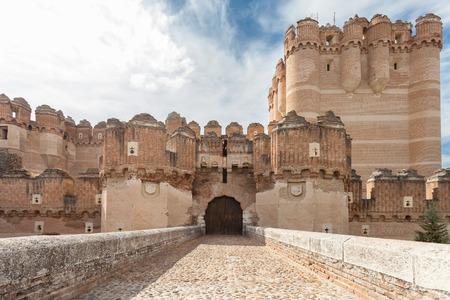 Main Facade of Coca Castle, Segovia  Castilla y Leon ,15th Century, Spain  Editorial