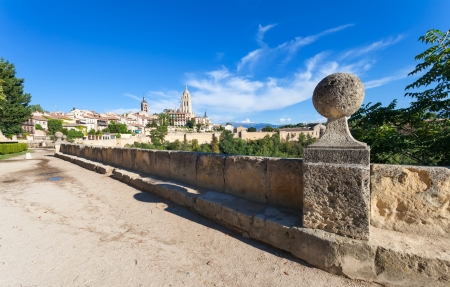 Segovia Cathedral,Walled Town,Castilla y Leon,Spain   Stock Photo