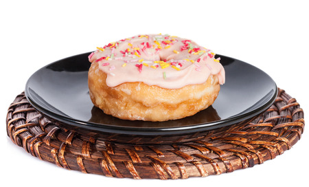Colorful Donut iSolated on White Background.