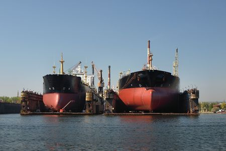 Tankers to dock at the shipyard of Gdansk, Poland.