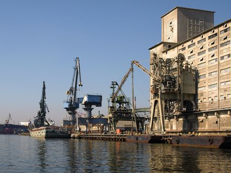 View of the land port of Gdansk, Poland. Stock Photo - 4823938