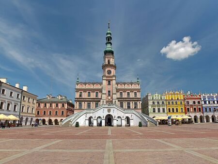 Town hall in Zamosc - Baroque building in the Old Town, Poland.