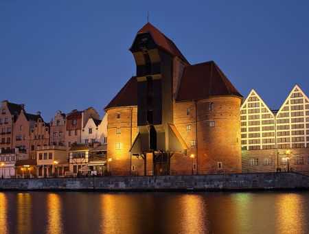 The riverside of Gdansk, Poland. photo