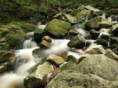 Small waterfall from Karkonosze, Poland. photo